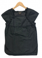LOUIS VUITTON(ルイ ヴィトン)の古着「ノースリーブブラウス」|ブラック