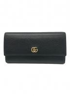 GUCCI(グッチ)の古着「プチマーモント / 長財布 / GGマーモント」|ブラック