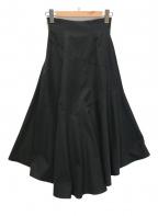 eimy istoire(エイミーイストワール)の古着「バックロングスイッチフレアスカート」|ブラック
