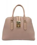 ()の古着「レザーハンドバッグ」 ピンク