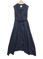()の古着「vintage JAGGY HEM DRESS」|ネイビー