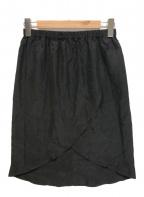 MM6 Maison Margiela(エムエムシックス メゾン マルジェラ)の古着「ラップスカート」|ブラック