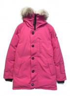 ()の古着「ジャスパーダウンジャケット」|ピンク