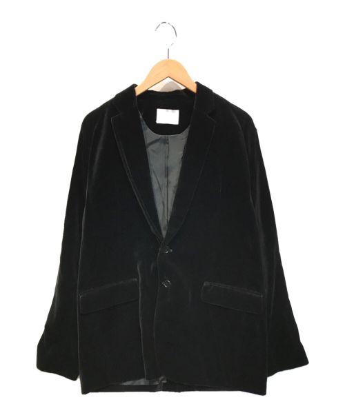 MIN(マイン)MIN (マイン) ベルベットジャケット ブラック サイズ:2の古着・服飾アイテム
