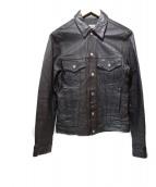 FLAGSTUFF(フラッグスタッフ)の古着「レザートラッカージャケット」|ブラック