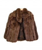 SAGA FOX(サガフォックス)の古着「毛皮コート」|ブラウン