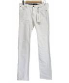 1piu1uguale3(ウノピュウノウグァーレトレ)の古着「リペア加工パンツ」|ホワイト