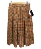 Lois CRAYON(ロイスクレヨン)の古着「ガンクラブチェックスカート」|ブラウン
