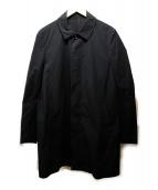 ATTACHMENT(アタッチメント)の古着「Ny/Coストレッチタッサー ステンカラーコート」|ブラック