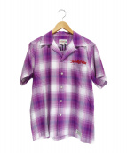 WACKO MARIA(ワコマリア)の古着「オープンカラーシャツ」 パープル