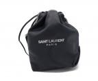 Saint Laurent Paris(サンローランパリ)の古着「Teddy Drawstring Bucket Bag」|ネイビー