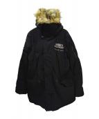 AVIREX(アヴィレックス)の古着「中綿コート」|ブラック