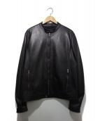 TAGLIATORE(タリアトーレ)の古着「シングルレザージャケット」|ブラック