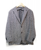 TAGLIATORE(タリアトーレ)の古着「千鳥格子2Bジャケット」|ブラック