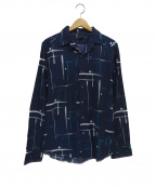 Bagutta(バグッタ)の古着「オープンカラーシャツ」|ネイビー