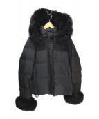 GRACE CONTINENTAL(グレースコンチネンタル)の古着「ファー付きショートダウンジャケット」|ブラック