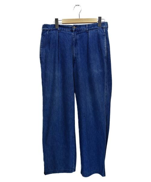 POLO COUNTRY(ポロカントリー)POLO COUNTRY (ポロカントリ) タックテーパードデニム インディゴ サイズ:33 80'sの古着・服飾アイテム