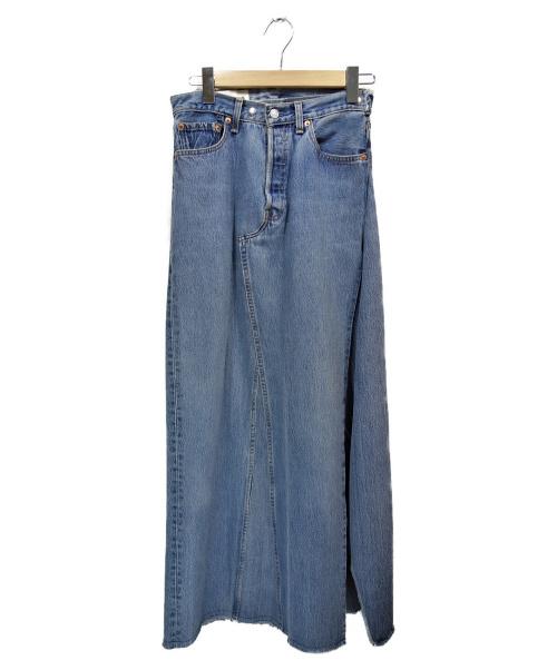THE SHINZONE(ザ シンゾーン)THE SHINZONE (ザ シンゾーン) リメイクデニムスカート インディゴ サイズ:38の古着・服飾アイテム