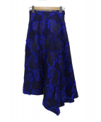 Diagram GRACE CONTINENTAL(ダイアグラム グレースコンチネンタル)の古着「リボンジャガードロングスカート」|ブルー