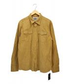 TMT(ティーエムティー)の古着「AMARETTA SUEDE SHIRTS」|ブラウン