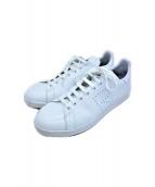 adidas×RAF SIMONS(アディダス×ラフシモンズ)の古着「レザースニーカー」 ホワイト