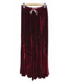 CP Shades×Ron Herman(シーピーシェイズ×ロンハーマン)の古着「ベロアスカート」|ボルドー