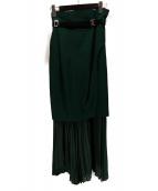 ELENDEEK(エレンディーク)の古着「レイヤードプリーツスカート」|グリーン