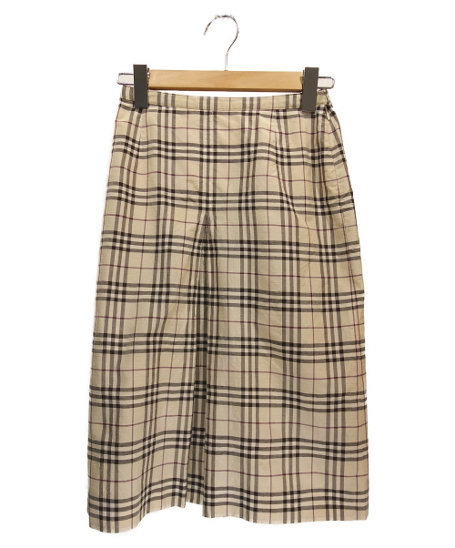 BURBERRY LONDON(バーバリーロンドン)BURBERRY LONDON (バーバリーロンドン) チェックスカート ブラウン サイズ:38 FXA27-052の古着・服飾アイテム