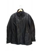 DIESEL BLACK GOLD(ディーゼルブラックゴールド)の古着「レザージャケット」|ブラック
