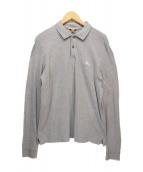 BURBERRY BRIT(バーバリーブリット)の古着「ロングスリーブポロシャツ」|グレー