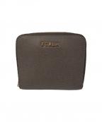 FURLA()の古着「ラウンドジップ財布」 グレー