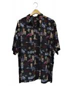 HARLEY-DAVIDSON(ハーレーダビットソン)の古着「[古着]総柄シャツ」|ブラック