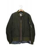 SCYE(サイ)の古着「ライナー付きMA-1ジャケット」 オリーブ