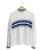 FACETASM(ファセッタズム)の古着「タートルネックニット」|ホワイト×ブルー