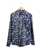 Dartin Bonaparto(ダルタン ボナパルト)の古着「スパンコールシャツ」|ブルー
