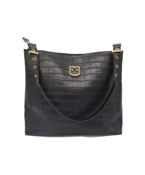 FURLA(フルラ)FURLA (フルラ) ホーボーバッグ ブラック BELVEDEREの古着・服飾アイテム