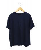 AURALEE(オーラリー)の古着「シームレスネックビッグTシャツ」|ネイビー
