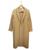 so1:1(ソウワンバイワン)の古着「スポンジダブルクロスタイトロングジャケット」|ベージュ