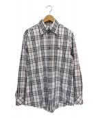 BURBERRY BLACK LABEL(バーバリーブラックレーベル)の古着「BBチェックシャツ」|ホワイト