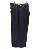 FACETASM(ファセッタズム)の古着「ツイストデニムパンツ」 インディゴ