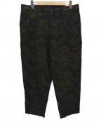 COMME des GARCONS SHIRT BOY(コムデギャルソンシャツ ボーイ)の古着「カモフラウールパンツ」 オリーブ