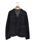 BLACK COMME des GARCONS(ブラックコムデギャルソン)の古着「デニムワーテーラードジャケット」|グレー