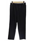 BLACK COMME des GARCONS(ブラックコムデギャルソン)の古着「ウールギャバイージーパンツ」|ブラック