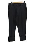 BLACK COMME des GARCONS(ブラックコムデギャルソン)の古着「ポロコットン製品洗いパンツ」 ブラック