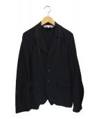 COMME des GARCONS COMME des GARCONS(コムデギャルソンコムデギャルソン)の古着「ウールギャバ3Bジャケット」|ブラック