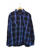 RATS(ラッツ)の古着「BLUE CHECK SHIRT」 ブルー×ブラック