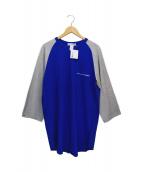 COMME des GARCONS SHIRT(コムデギャルソンシャツ)の古着「ロゴラグランTシャツ」 ブルー
