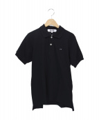 PLAY COMME des GARCONS(プレイコムデギャルソン)の古着「SMALL BLACK HEART POLO SHIRT」 ブラック