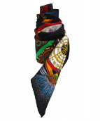 HERMES(エルメス)の古着「シルクスカーフ」|ブラック×ピンク