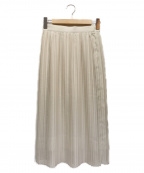 MICHEL KLEIN(ミッシェルクラン)の古着「プリーツスカート」|ベージュ